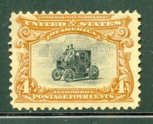 US Scott 296 Pan American Expo Mint Hinged  thin $70.00