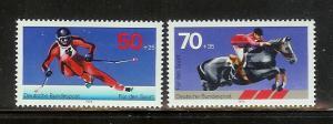 Germany B547-B548 Set MNH Solom Skiing, Steeplechase (C)