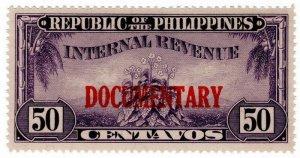 (I.B) Philippines Revenue : Documentary 50c
