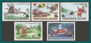 Christmas Island 1986 Christmas, MNH  #189-193,SG222-SG226