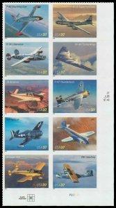 US #3916/3925a Block $3.70(10x37c)Advances Aviation, MNH, (1)
