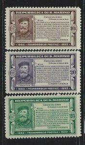 San Marino Scott 143-145 Mint Hinged Short Set