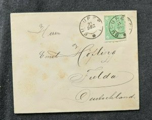 Vintage Bucharest Romania Cover to Fulda Germany