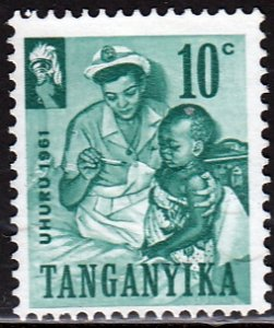 Tanganyika Sc 46, MNG, 1961, Nurse and Infant
