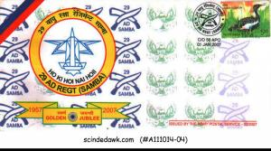 INDIA - 2007 GOLDEN JUBILEE 29 AD REGT(SAMBA) SPECIAL COVER WITH CANCL.