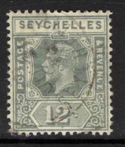SEYCHELLES SG107 1921 12c GREY DIE II FINE USED