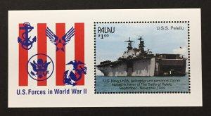 Palau 1990 #258 S/S, WWII 50th, MNH.