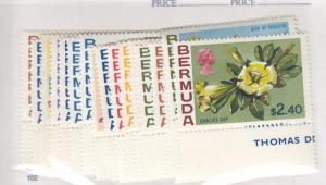 BERMUDA # 255-271 VF-MLH FLOWERS CAT VALUE $53.80