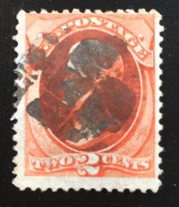 US #178 Used F Andrew Jackson 2c (SCV ~ $15)