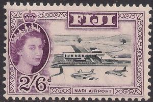 Fiji 1959 - 63 QE2 2/-6d Black & Purple MM SG 307 ( J1227 )