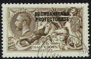 BECHUANALAND 1913 KGV SEAHORSES 2/6 BRADBURY PRINTING USED