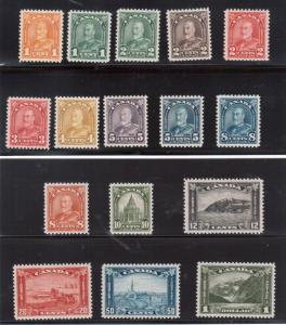 Canada #162 - #177 Extra Fine Never Hinged Gem Set