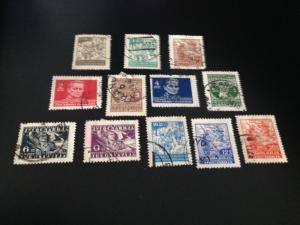 Yugoslavia sc 173-184 uhr comp set