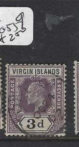 VIRGIN ISLANDS (P2105B)  KE 3D    SG 58    VFU