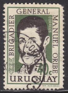 Uruguay 673 Gen. Manuel Oribe 1961