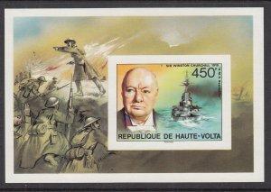 Burkina Faso 351 Churchill Imperf Souvenir Sheet MNH VF