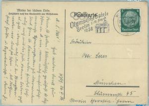 68212 - GERMANY - POSTAL HISTORY - CARD - 26.5.1936 Olympic postmark: Wuttenburg