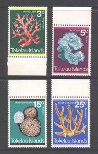 Tokelau Scott 37/40 - SG37/40, 1973 Coral Set MH*