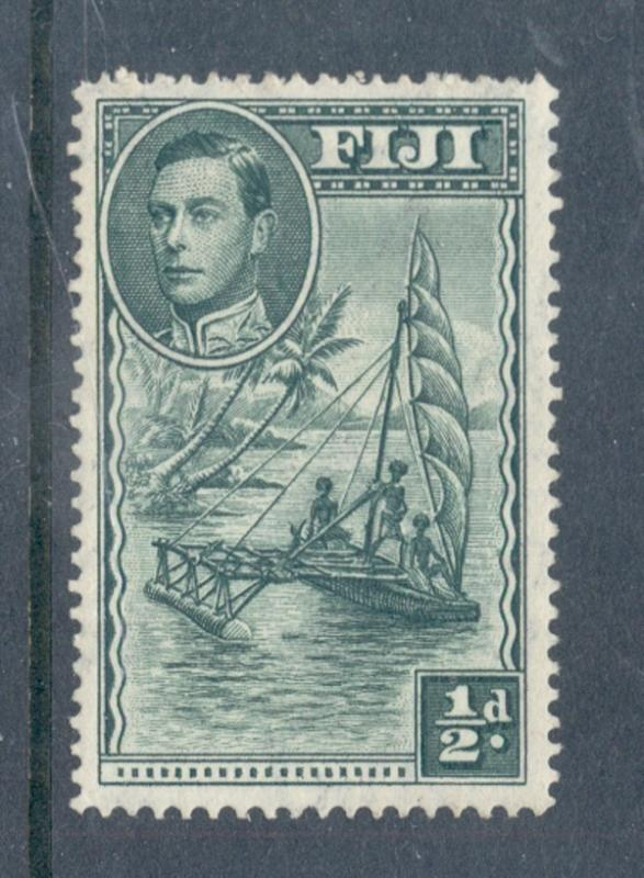 Fiji Sc117c ½ d G VI & Outrigger perf 14 stamp mint