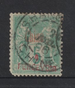 French PO in China a 5c Post Due used from 1903 BUT!!!