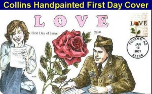 COLLINS HAND PAINTED 3496 Love Letter from a Soldier