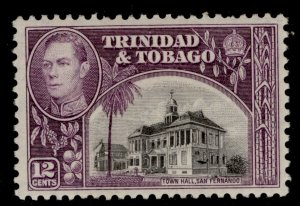 TRINIDAD & TOBAGO GVI SG252a, 12c black & slate-purple, M MINT.