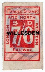 (I.B) London & North Western Railway : Parcel 7/6d (Willesden)