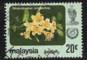MALAYSIA Kedah Scott 125 Used flower stamp