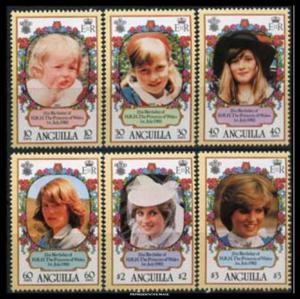 Anguilla Scott 485-490 Mint never hinged.