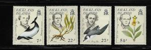 FALKLAND ISLANDS, 433-436, MNH, PHILIBERT COMMERSON 1727-1773, COMMERSON DOLPHIN