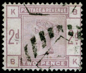 SG189, 2d lilac, FINE USED. Cat £80. BK