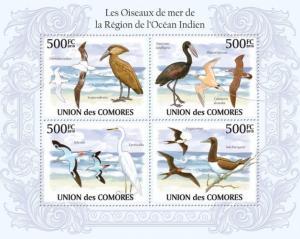 COMORES 2010 SHEET BIRDS SEABIRDS REGION OF THE INDIAN OCEAN OISEAUX cm10118a