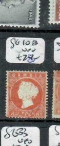 GAMBIA  (P2308BB) QV  1/2D  SG 10B  RED CDS   VFU