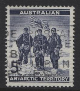 Australian Ant.Terr.- Scott L6- Shackleton Exped. -1961 - FU- 5p -Dk Blue2