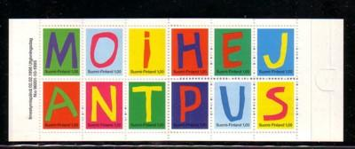 Finland Sc 992a 1996 Letter stamp booklet mint NH