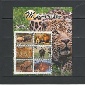 MALAWI: ++NEW ISSUE++ /**Beautiful WILDLIFE**/ Sheet of 6 & 6 SS / MNH3 Images.