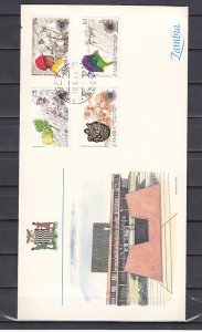 Zambia, Scott cat. 276-279. Commonwealth Day issue. First day cover. ^