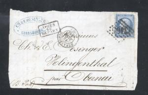 France 1866 Postal History Rare Front Cover 20 C NAPOLEON DB.244