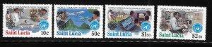 St Lucia 1983 World Communications Year Sc 607-610 MNH A1784