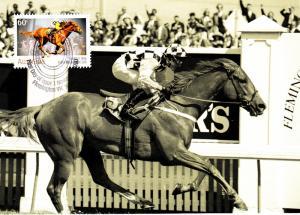 Australia 2010 Maxicard Scott #3381 60c 'Saintly' 1996 winner - 150th anniver...