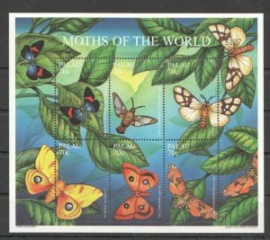PK297 PALAU FLORA INSECTS BUTTERFLIES INSECTS MOTHS OF THE WORLD 1KB MNH