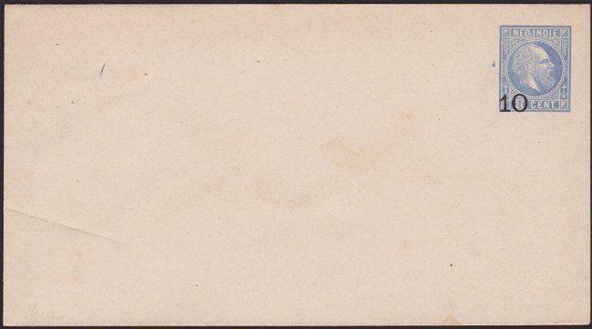 NETHERLANDS INDIES 10 on 20c envelope unused................................6730