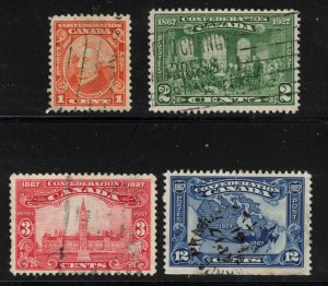 CANADA - 60th Anniv of Confederation Used Short Set SC142-143,145 1927