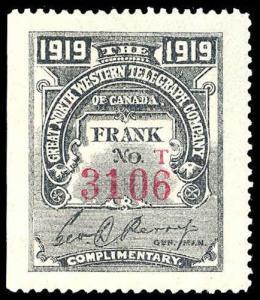 CANADA-g-b-REVENUES-TELEPHONE & TELEGRAPH TGN30  Mint (ID # 82842)