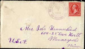 1898 MILITARY STA. #1 PHILIPPINE ISLANDS COVER BM7262