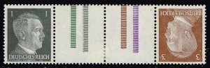 GERMANY STAMP Tete Beche  MH/OG  GUTTER PAIR STAMPS