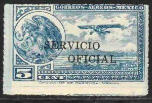 MEXICO CO25, 5¢ OFFICIAL AIR MAIL, MINT, NH. AVG-G.