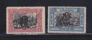 Mexico 463-464 MH Overprint