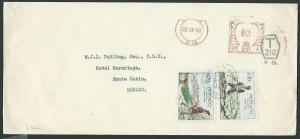 MONACO 1960 cover ex London with pair pictorial POSTAGE DUES...............41144