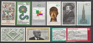Germany #1229-30, 1244-51 MNH VF CV $8.90 (D3027)